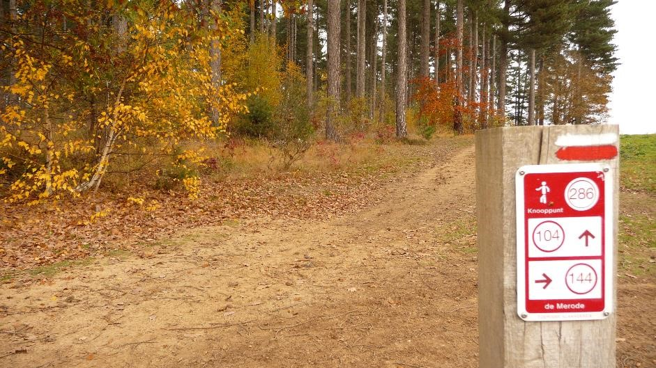Walking network signpost in Averbode